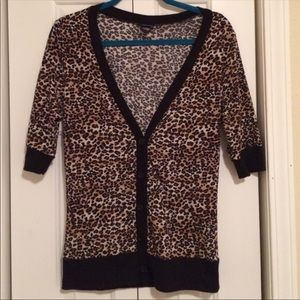 Leopard Animal Print Cardigan